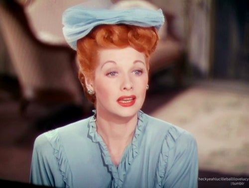 lucille ball talking