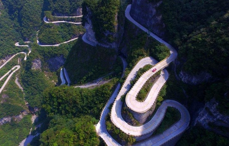 If You're Too Scared to Drive on Tianmen Shan Big Gate Road