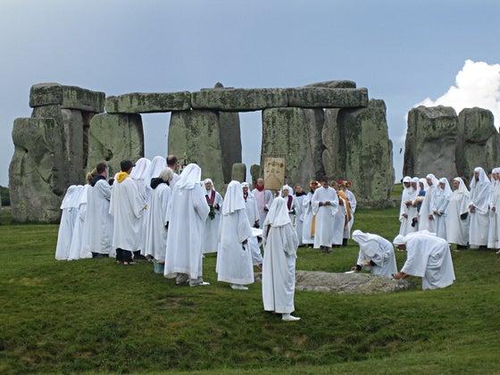 Neo-Druids at Stonehenge