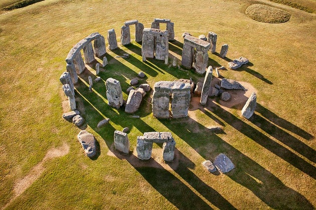 Aerial view of historic landscape Stone Henge