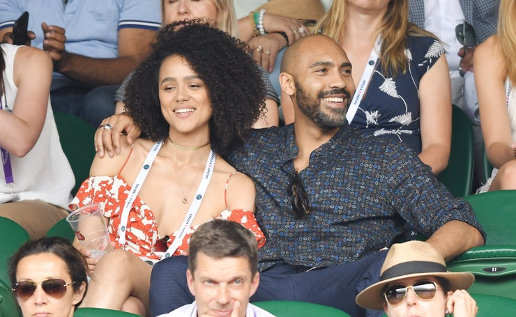 Nathalie Emmanuel and Alex Lanipekun