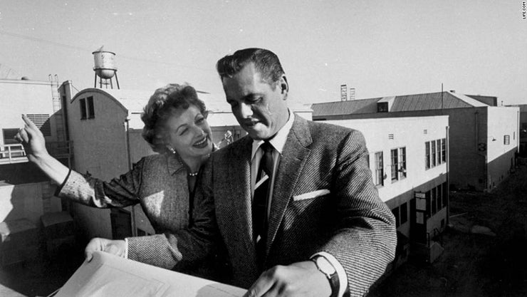 lucille ball and desi arnaz on roof