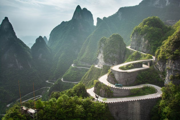 Tianmen Shan Big Gate Road, China