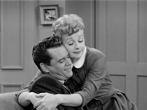 lucille ball and desi arnaz hug