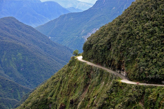 Going Off the Edge at North Yungas Road
