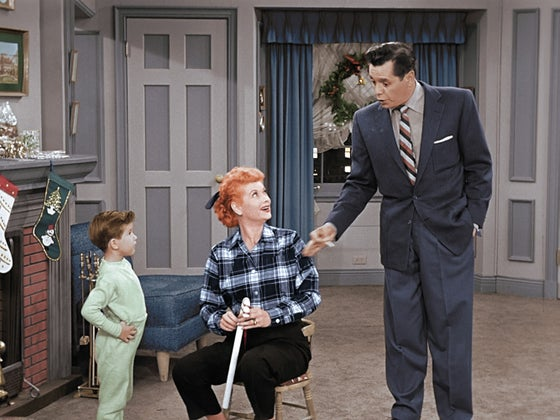 lucille ball and desi arnaz with baby