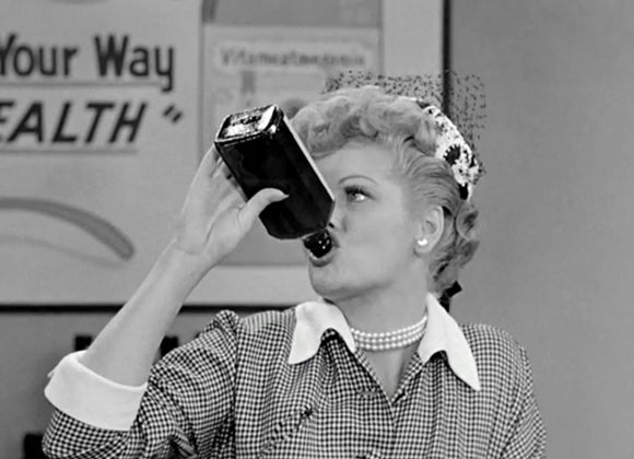 lucille ball drinking