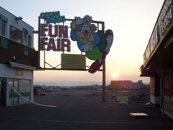 Ocean beach fun fair site rhyl