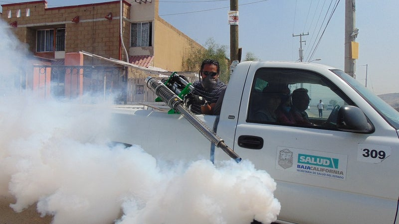 A fumigator with equipment