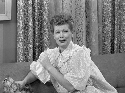 lucille ball cry