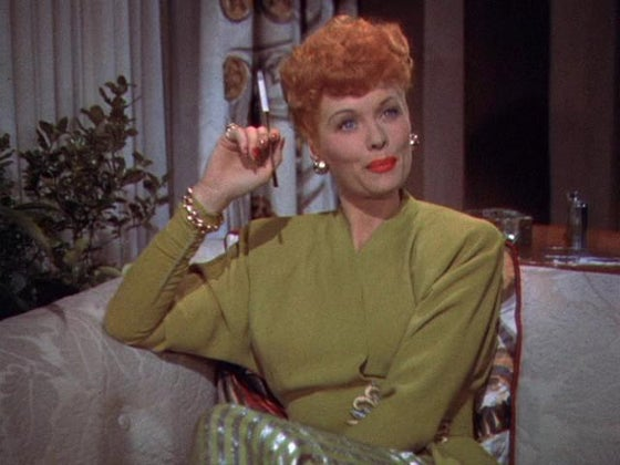 lucille ball sitting