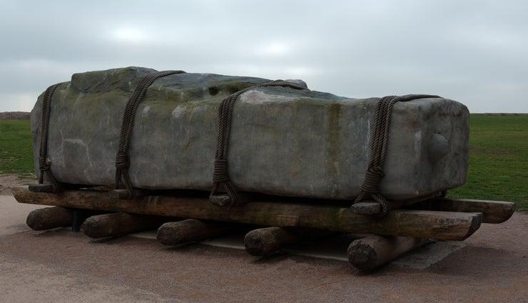 Sarsen stone on sledge