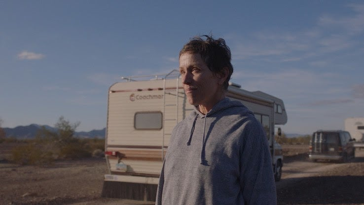 "Awards Contenders 2021: Frances McDormand and Chloé Zhao's ""Nomadland"""